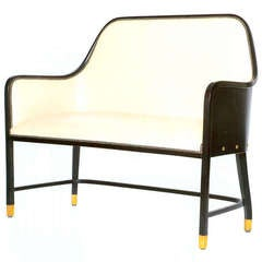 Leather Bench by Josef Hoffmann