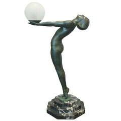 """A Famous Sculpture Lamp """"Clarté"""" by Max Le Verrier"""