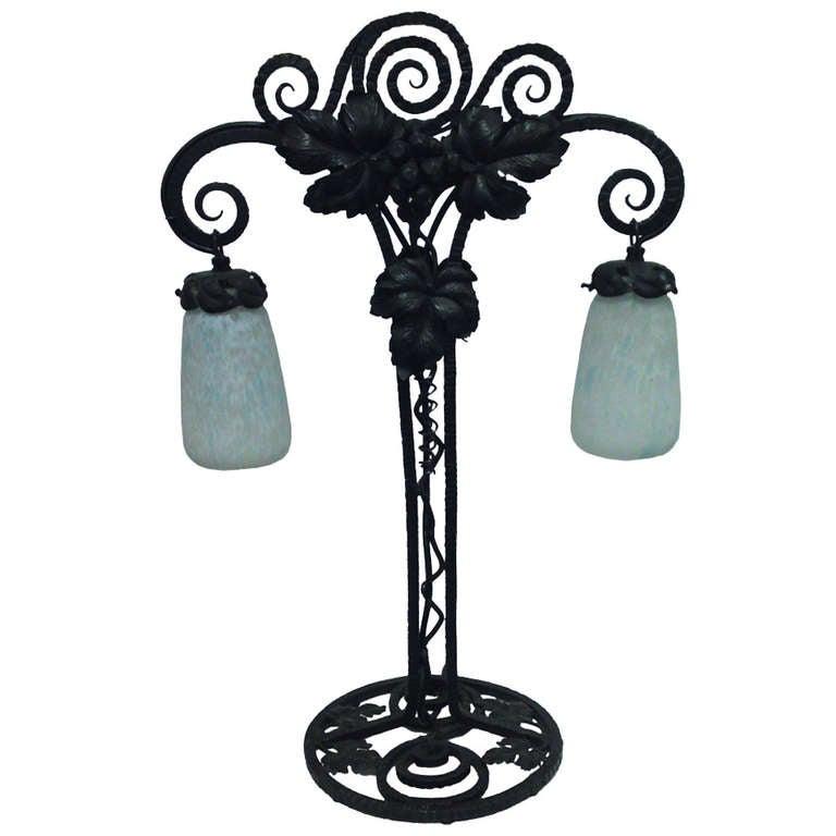 Fantastic Art Nouveau Table Lamp By Daum, Nancy