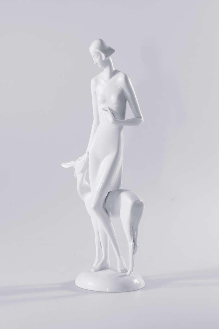 German Art Deco Rosenthal Porcelain Figure Märchen 'Fairy Tale' For Sale