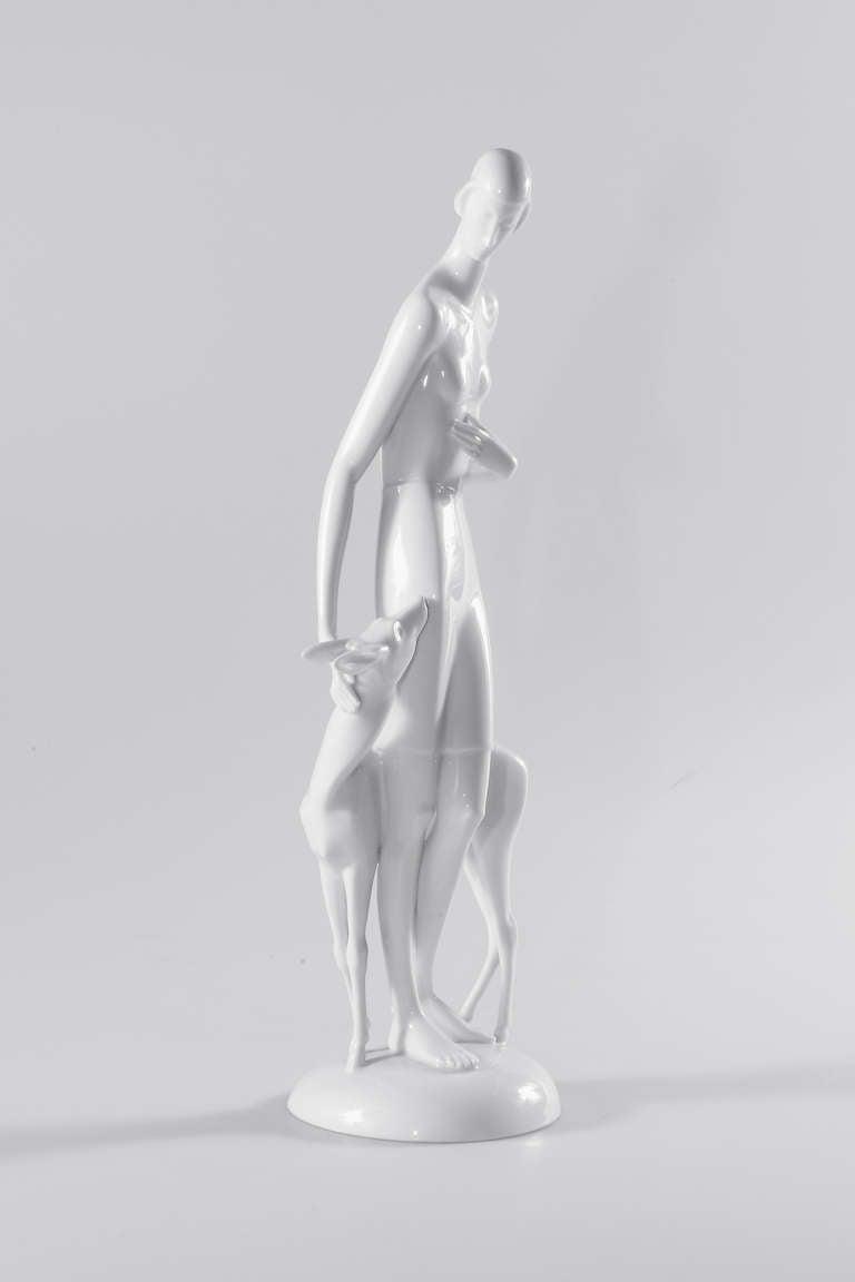 Art Deco Rosenthal Porcelain Figure Märchen 'Fairy Tale' In Excellent Condition For Sale In Berlin, DE