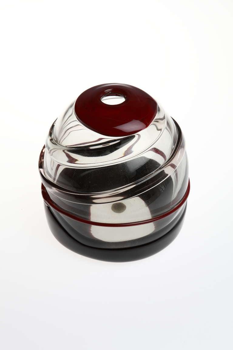 Modern Luciano Gaspari Sasso Murano Glass Vase For Sale