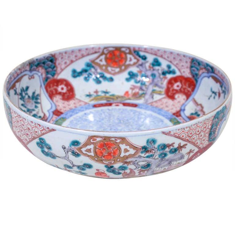 Antique Japanese Hand Painted Porcelain Imari Bowl At 1stdibs