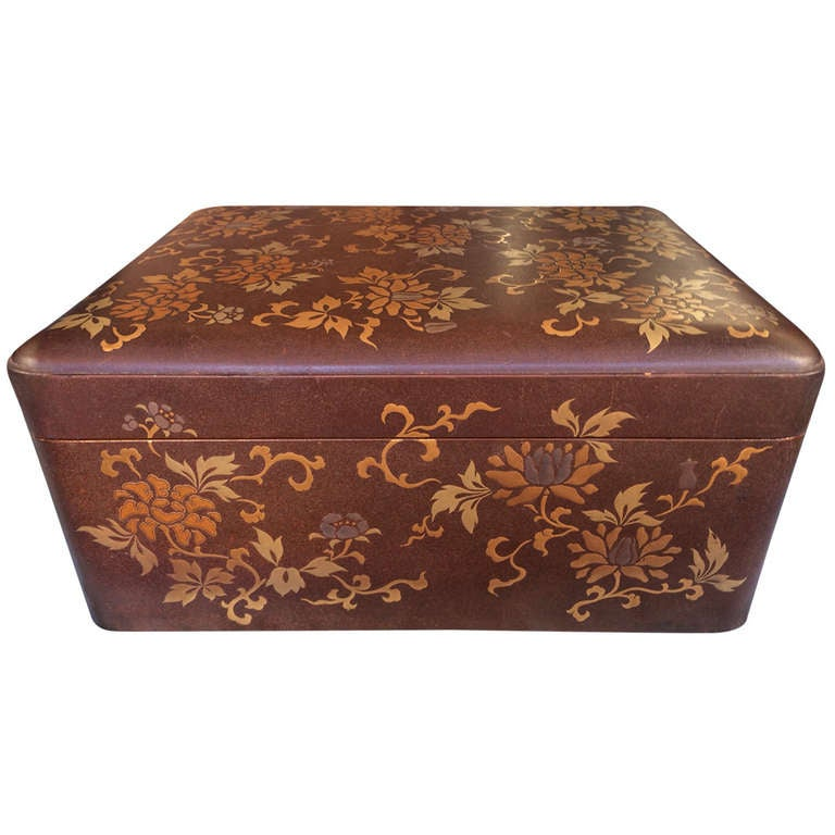 Antique Japanese Inlaid And Lacquered Box At 1stdibs