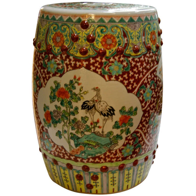 Antique Chinese Porcelain Garden Stool At 1stdibs