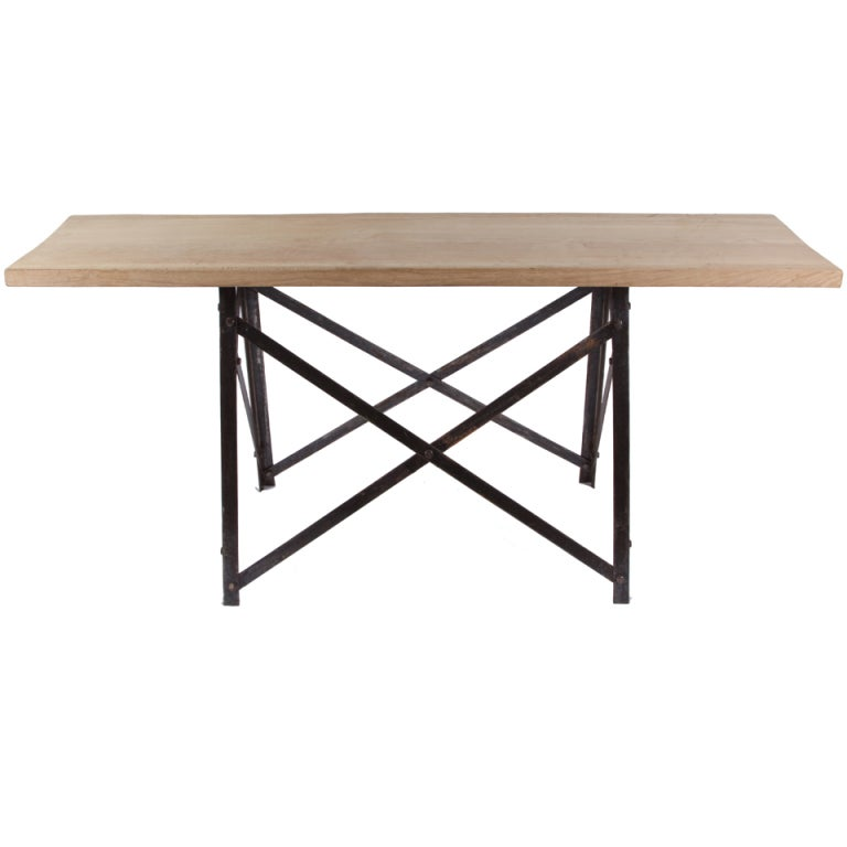 French narrow trestle table at 1stdibs for Narrow cocktail table