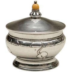 Grann & Laglye Danish Covered Silver Dish with Glass Liner