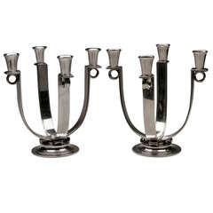 Georg Jensen Very Rare Art Deco Candelabra, No. 623B