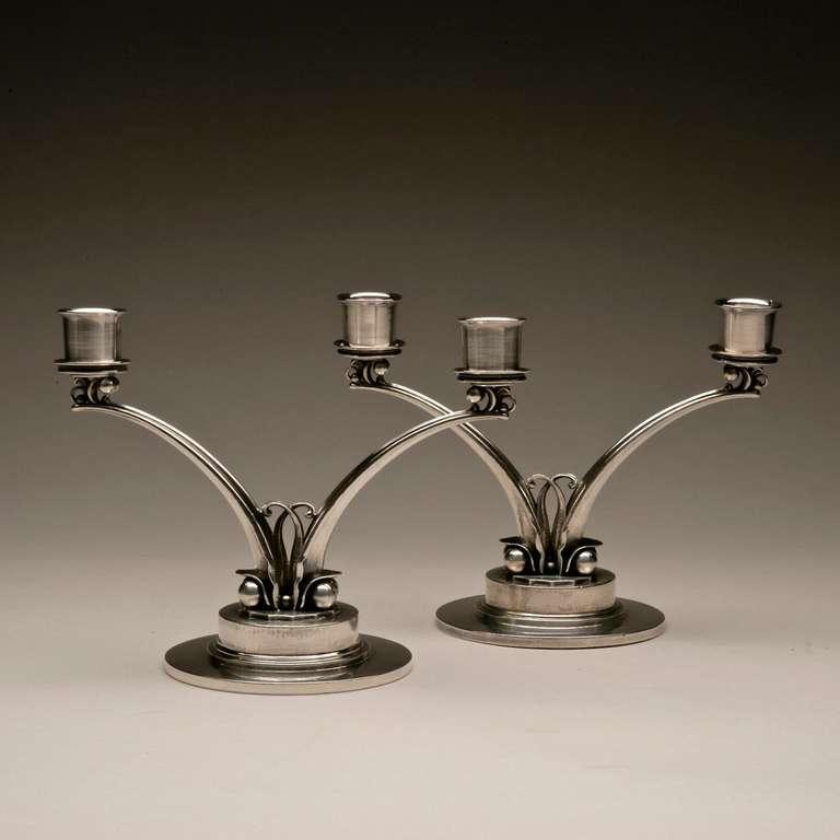 georg jensen candelabra by harald nielsen no 278 for. Black Bedroom Furniture Sets. Home Design Ideas