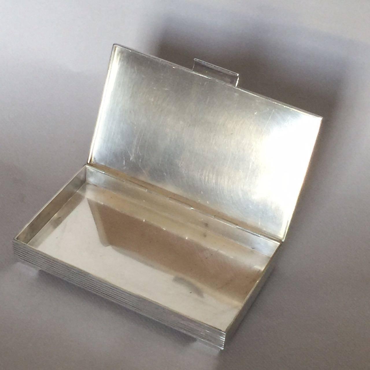 georg jensen sterling silver keepsake box no 712c by sigvard bernadotte at 1stdibs. Black Bedroom Furniture Sets. Home Design Ideas