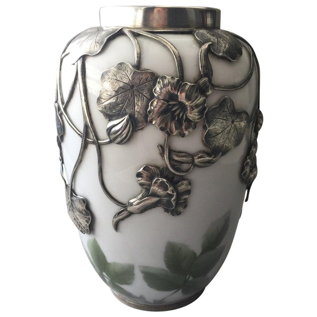 Royal copenhagen rare vase with silver mounting from 1911 for sale royal copenhagen rare vase with silver mounting from 1911 for sale reviewsmspy