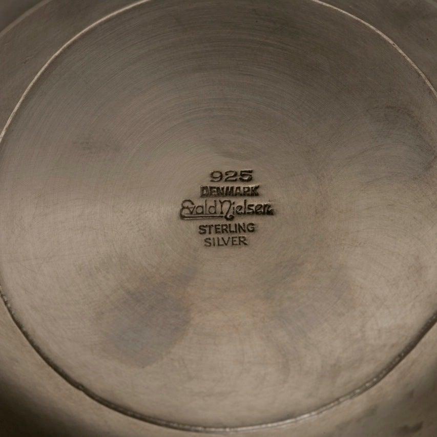 Evald Nielsen Sterling Silver Pair of Art Deco Candelabras For Sale 2