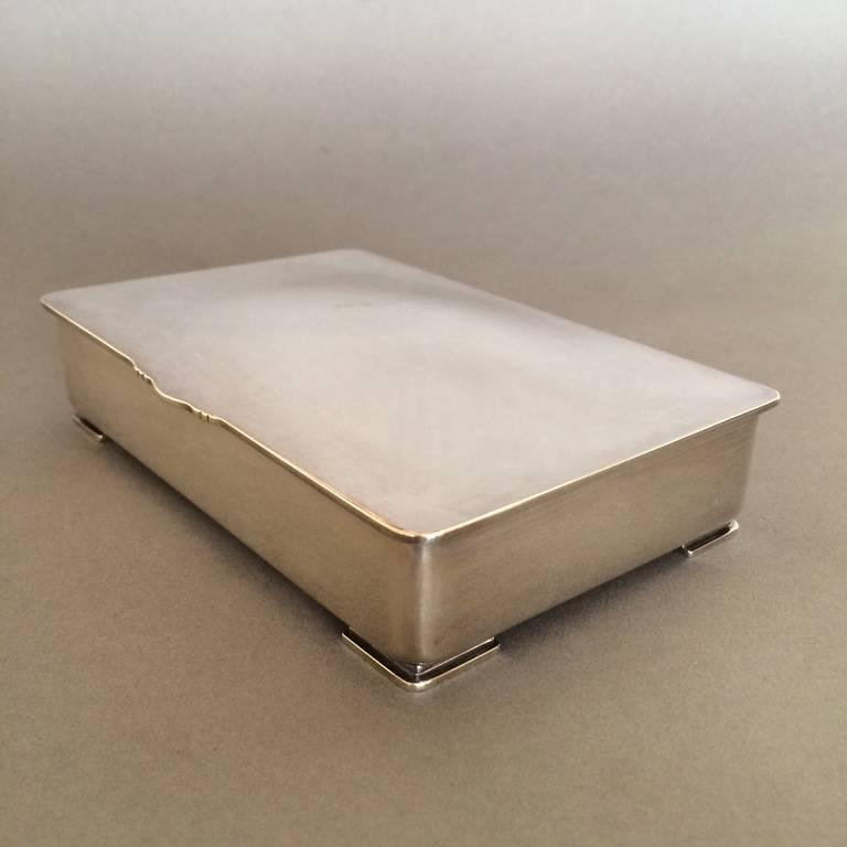 georg jensen footed keepsake box by gundorph albertus for sale at 1stdibs. Black Bedroom Furniture Sets. Home Design Ideas