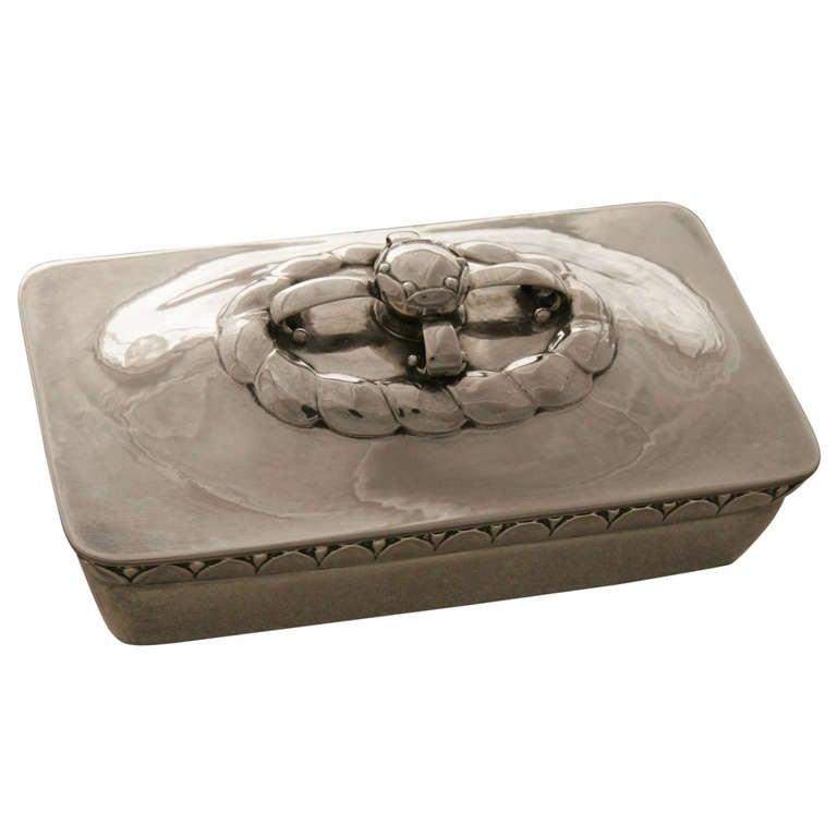 georg jensen keepsake box no 166 at 1stdibs. Black Bedroom Furniture Sets. Home Design Ideas