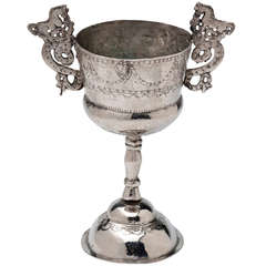19th Century Colonial Silver Goblet