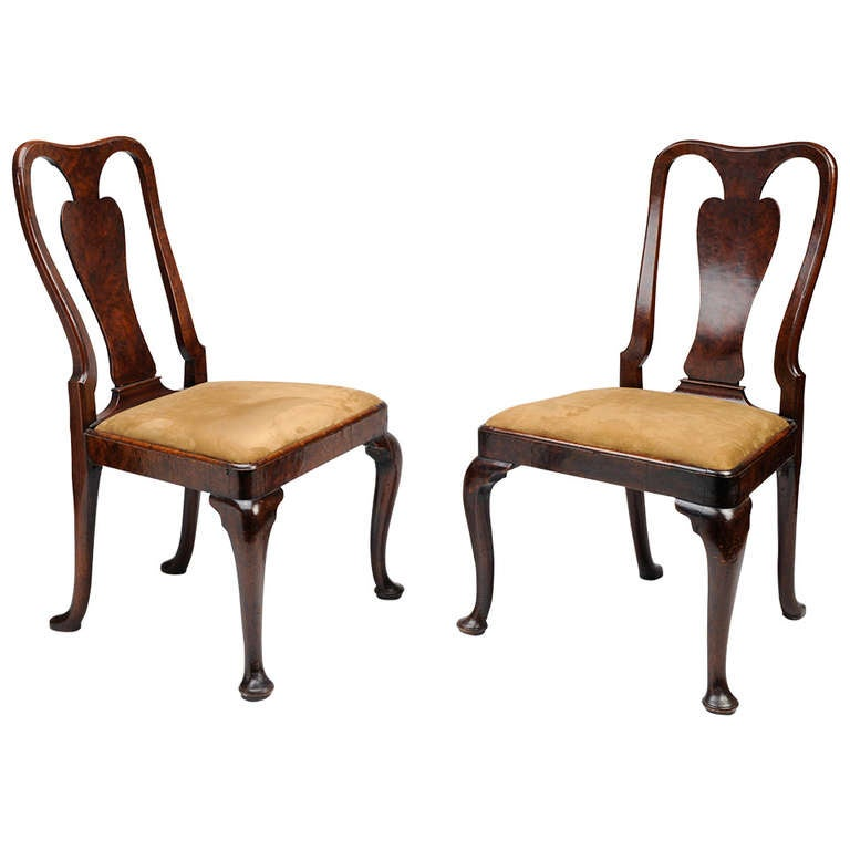 Pair of George II Mahogany Side Chairs, ca. 1740