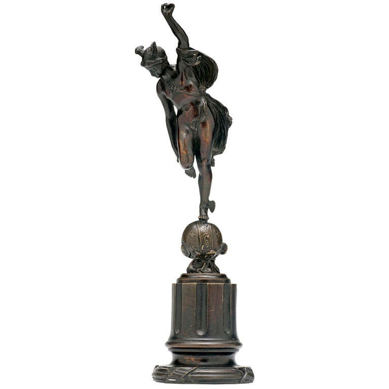 18th Century Bronze Sculpture of Mercury