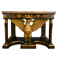 Tuscan Neoclassical Pier Table with Eagle Motif, circa 1820