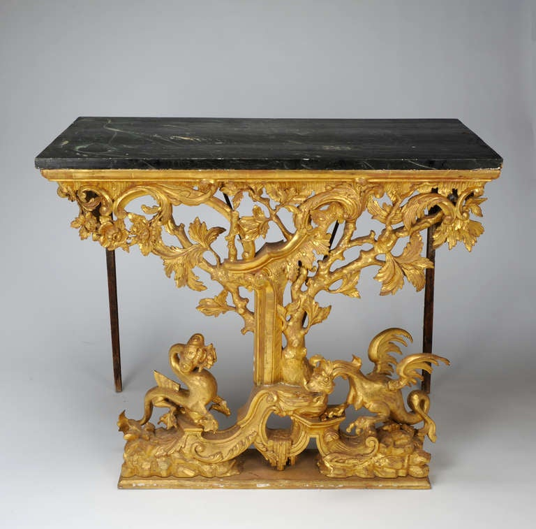 Italian, Painted and Giltwood 18th c. Pier Table 2
