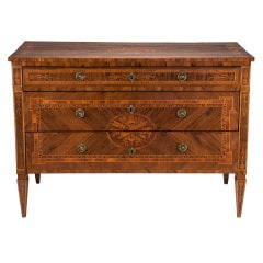 Roman, 18th c. Inlaid Neoclassical Commode