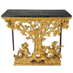 Italian, Painted and Giltwood 18th c. Pier Table