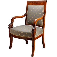 French, Charles X, Dolphin Arm Chair
