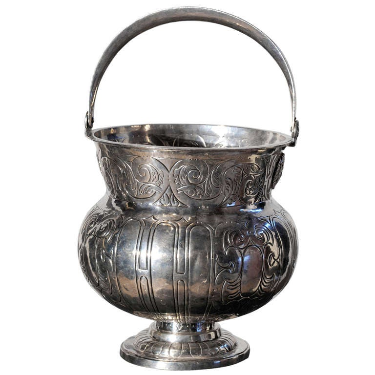 Spanish 18th Century Aspersorium (Holy Water Bowl) For Sale