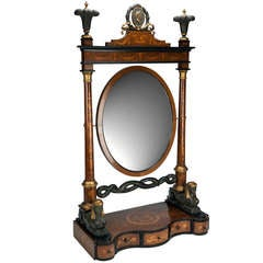 Italian, Neoclassical, Egyptian Revival Dressing Mirror