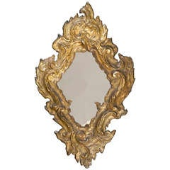 18th c. Ornate Italian Giltwood Mirror