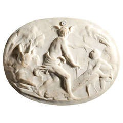 """Marble relief, """"Hypnos, Hera and Pasithea"""", Fontainebleau, c. 1540"""