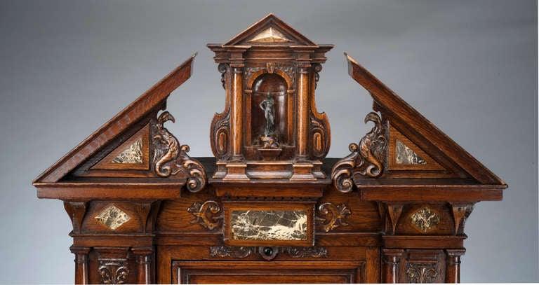 16th century French Renaissance walnut and marble inlay cabinet 3. 16th century French Renaissance walnut and marble inlay cabinet