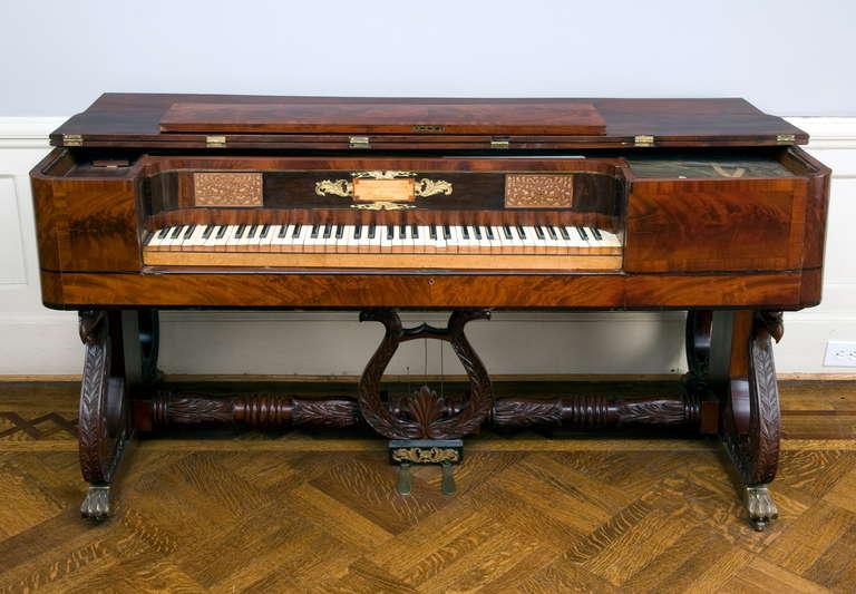 Classical Inlaid Mahogany Piano Forte At 1stdibs