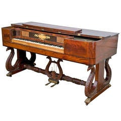 Classical Inlaid Mahogany Piano Forte
