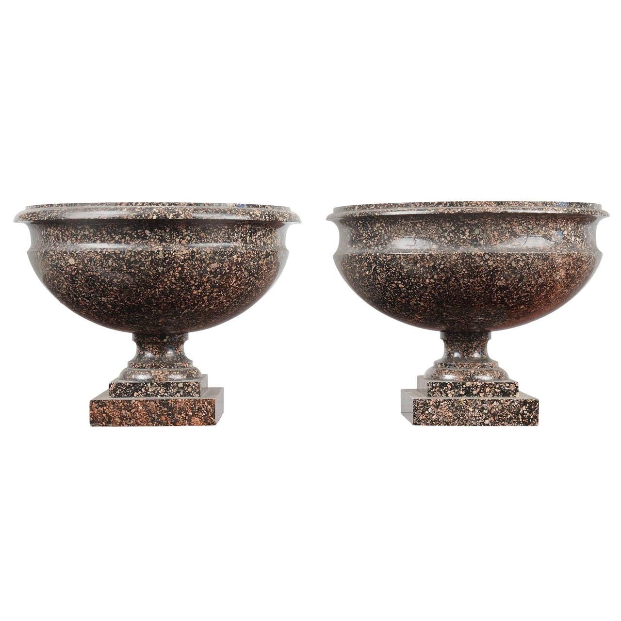 Monumental pair of neoclassical period swedish porphyry campagna pair of swedish porphyry urns reviewsmspy