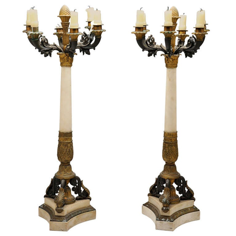 French Empire Charles X Candleabra, c. 1830