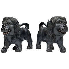 Pair of Lions (Anglo – Indian, 18th Century)
