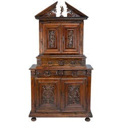 Late 16th c. French Renaissance Walnut Cabinet