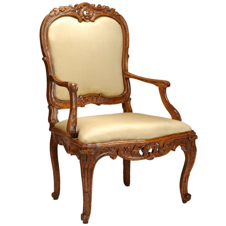 18th Century Rococo French Armchair 1