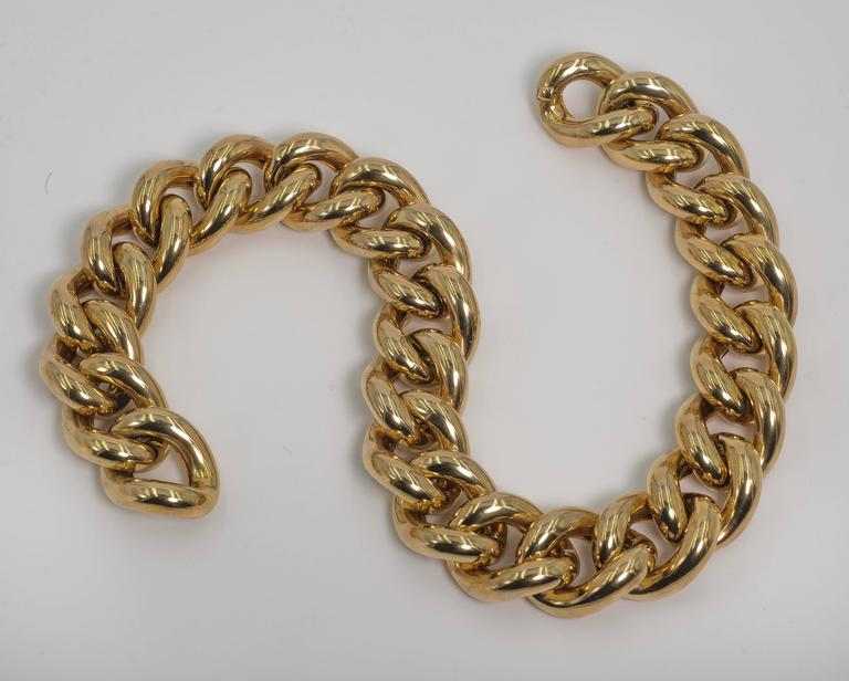 Collezione Monte Napoleone Large Gold Vermeil Sterling Curb Bold Link Necklace 3