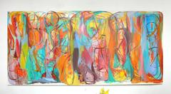 """Contemporary Painting """"Universal Heartbeats"""" by Gabriela Tolomei"""