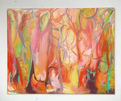 """Contemporary Painting """"In the Enchanted Woods"""" by Gabriela Tolomei"""