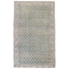 Vintage Indian Cotton Agra Rug