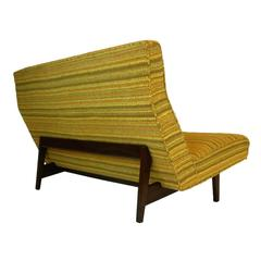 "Jens Risom ""Floating"" Sculptural Loveseat or Settee"