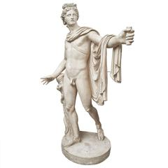 French Plaster Cast of the Apollo Belvedere, 19th Century