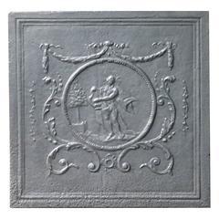 19th Century Apollo with Lyre Fireback