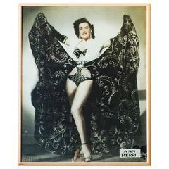 Ann Perri Burlesque Theater Lobby Board, circa 1950