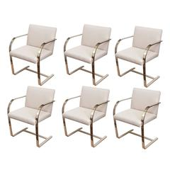 Set of Six Knoll Mies Van Der Rohe Brno Dining Chairs