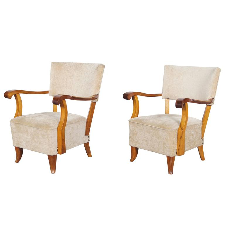 Vintage french art deco lounge chairs for sale at 1stdibs - Deco lounge eetkamer modern ...