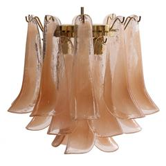 Three-Tiered Murano Glass Chandelier by Mazzega