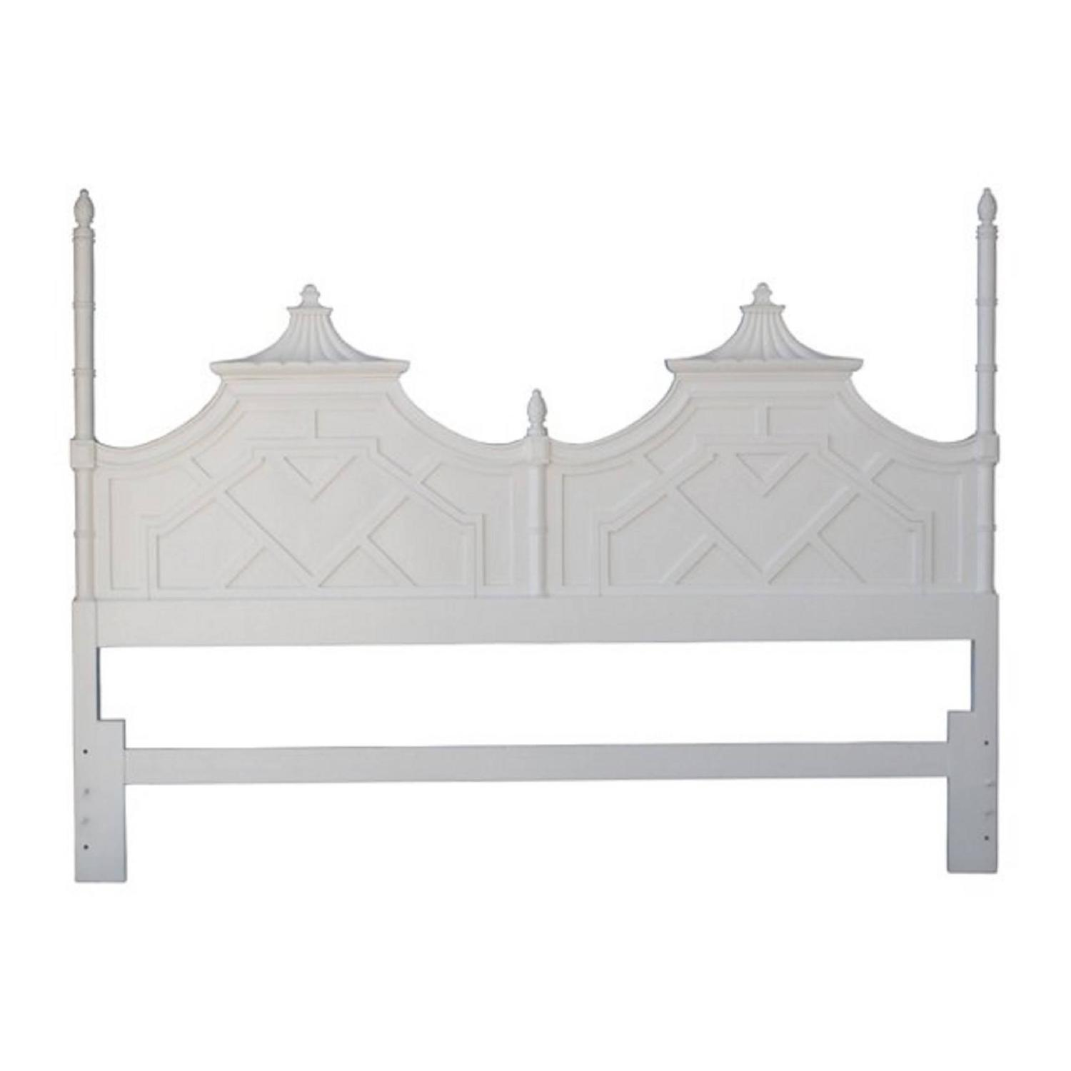 Chinese Chippendale Bed : Thomasville Pagoda Chinese Chippendale King-Size Headboard Chinoiserie ...